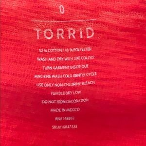 "torrid Tops - Red ""no comment"" T-shirt"